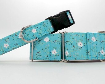 Edelweiss Dog Collar (Martingale, Buckle or Tag)