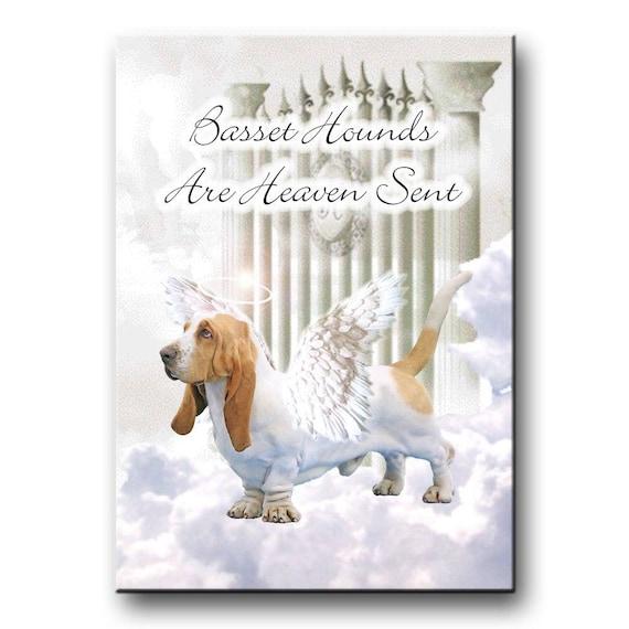 Basset Hound Heaven Sent Fridge Magnet No 1