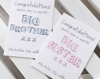 Congratulations you're a Special big brother / big sister card - new baby