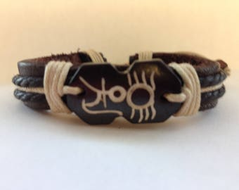 Leather Fortune Bracelet