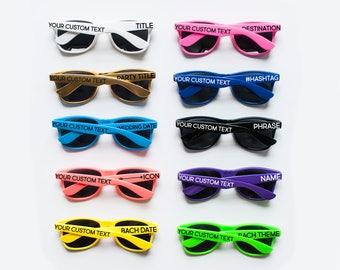 Personalized Sunglasses, Custom Sunglasses, Bachelorette Sunglasses, Wedding Sunglasses, Bachelorette Gift, Wayfarer Sunglasses