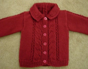 Cranberry Child's Sweater