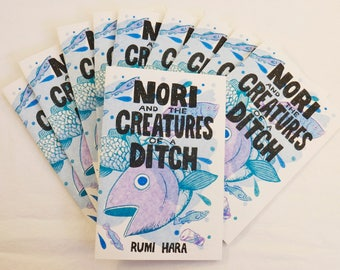Nori and the Creatures of a Ditch - risograph printed mini comic