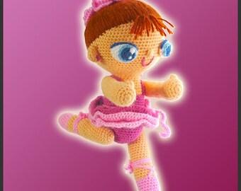 Amigurumi Pattern Crochet Agustina Ballerina Doll DIY Instant Digital Download PDF