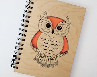 Wooden Owl A5 Notebook
