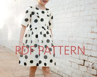 Marlow Dress PDF, girl dress pattern, girl patterns, dress pdf, girl sewing pattern, kids pattern, girl pdf, sewing pattern,summer dress pdf