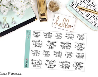 NAMASTE in my LEGGINGS QUOTES Paper Planner Stickers