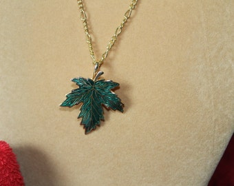 Green and Gold Maple Leaf,