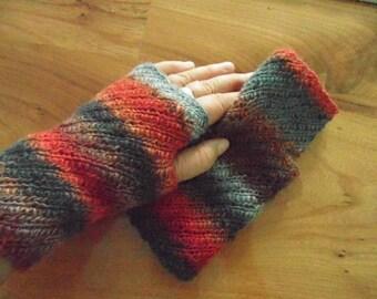 Mitaines courtes n.4, belle prime de 100 % laine, oh tellement coloré