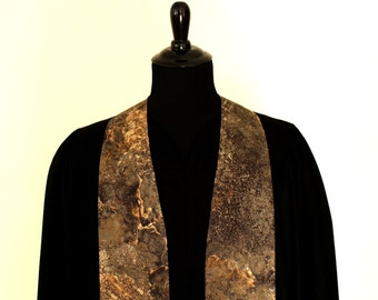 "Clergy Stole, Solid Rock #143, Pastor Stole, Minister Stole, 54"" Length, Pastor Gift, Vestments"