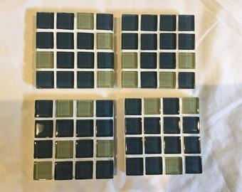 Mosaic garden art, Mosaic coasters, garden accent, home decor, accent tiles