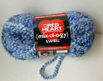 Yarn Sale  - Blue Suede Mixology Swirl  by Red Heart