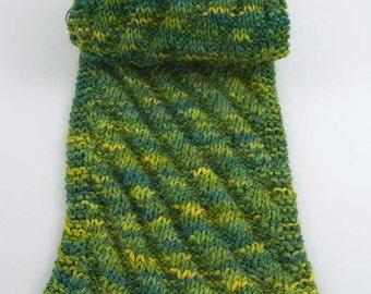Diagonal Rib Scarf Knitting Pattern - PDF