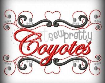 Coyotes Pride Embroidery Design