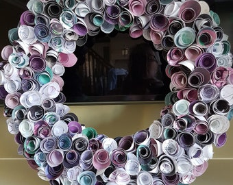 Rolled Rose Wreath--Gift/Decor