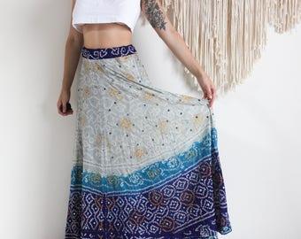 Vintage Embellished Hippy Maxi Skirt