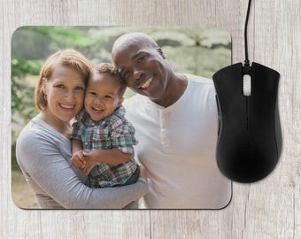 Photo Rectangle Mouse Pad - Custom Picture Gift, Office, Desk Computer Mousepad