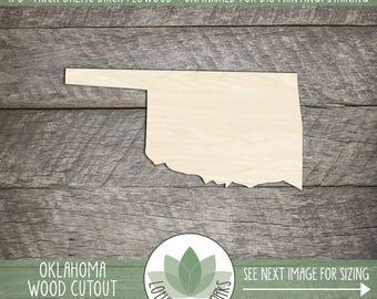 Oklahoma, Unfinished Wood Bunny Rabbit Laser Cut Shape, DIY Craft Supply, Many Size Options, Blank Wood Shapes