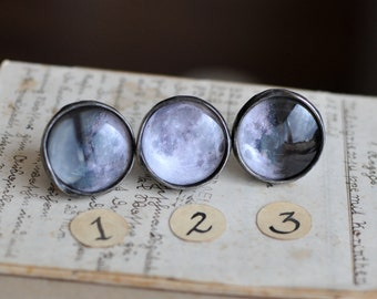 inspirational ring, moon ring, moon phases, custom moon phase, space ring, crescent moon ring, planet ring