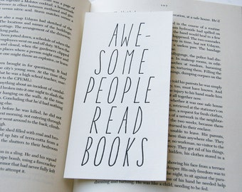 Letterpress Bookmark - Awesome People Read