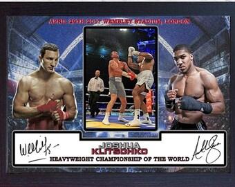 JOSHUA V KLITSCHKO signed autographed Boxing photo print Wembley London Framed