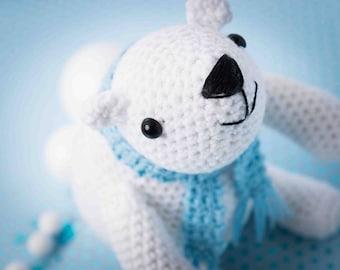 Polar bear amigurumi PDF crochet pattern