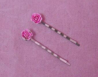 Lolita Pink Rose Hairpin