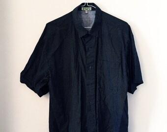 Fine Polka-Dot button-up shirt (L)