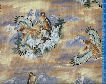 Red Tail Hawk Quilt Craft Cotton Fabric