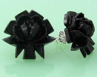Vintage Rose Button Post Earrings
