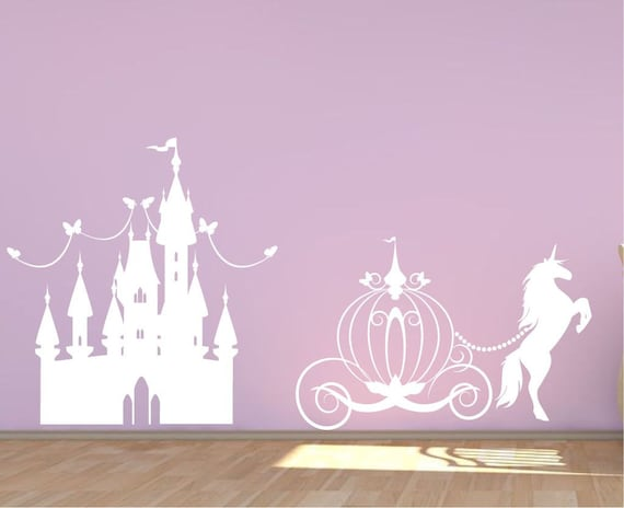 Princess Castle Wall Decal by IrishOakDesigns