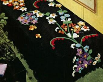 Flower Fountain Afghan Crochet Pattern