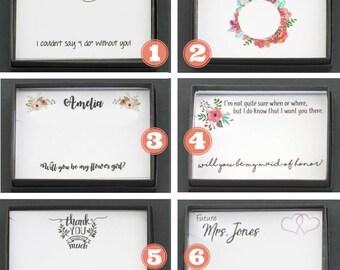 Wedding Necklace Gift Box Wedding Wrap • Matron of Honor Gift Flower Girl Gift Thank You Box • Be My Bridesmaid Jewelry Box Custom