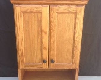 Bathroom Vanity Oak Cabinet In Medium