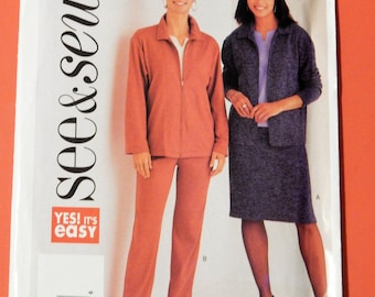 See & Sew 3630 Very easy to sew jacket, skirt and pants pattern Uncut Sizes 6, 8 and 10