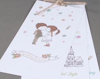Cartoon Wedding Invite 3 layers
