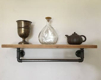 Industrial Style hydraulic tube shelf