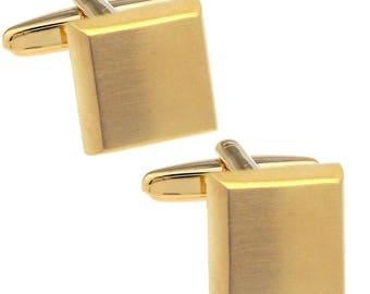 Classic Gold square cufflinks