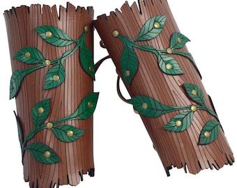 Woodland Vine Arm Bracers - Elven Armor - #DK6079
