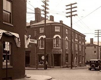 Old Custom House, Daniel & Penhallow Streets, Portsmouth, Rockingham County, NH, Sepia Duotone Print