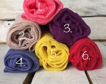 Set of 3 Hand-dyed  Cheesecloth Wrap