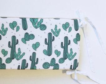Crib Bumper Desert Cacti. Custom Crib Bedding. Baby Bumper. Baby Bedding. Southwest Nursery.