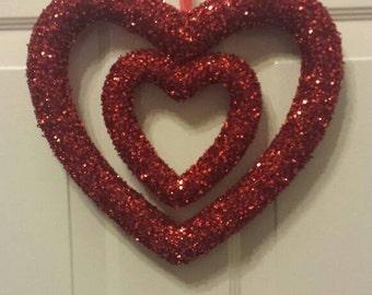 Valentine wreath / heart wreath / front door wreath / door wreath / holiday wreath