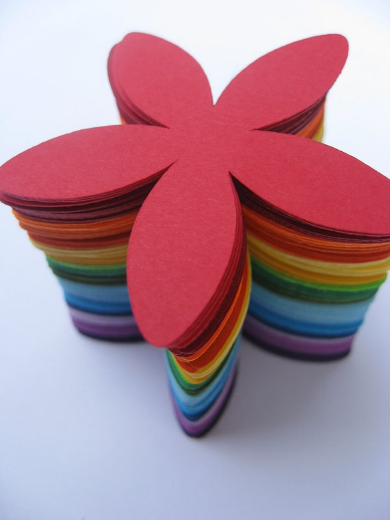 100 Flowers, 5 inch. Choose Your Colors. Wedding, Birthday Decoration.