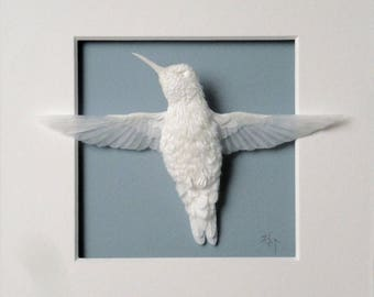 Paper Hummingbird Sculpture Art Serenity Made to Order