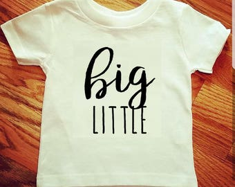 Big Little Outfit, Birth Announcement, Big Sibling, Sibling Outfits, Little Little Outfit, Baby Announcement