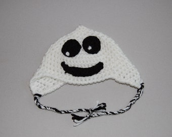 Mr. Boo crochet hat
