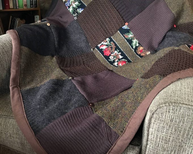 """My """"After the Storm"""" Wool Sweater Quilt"""