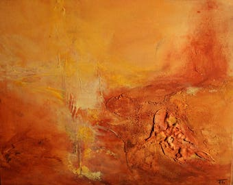Abstract modern painting desert 33x41cm