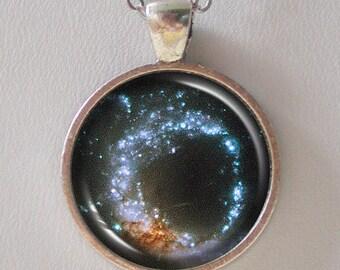 Galaxy Necklace, Nebula Necklace - Galaxies Arp 147- Galaxy Series